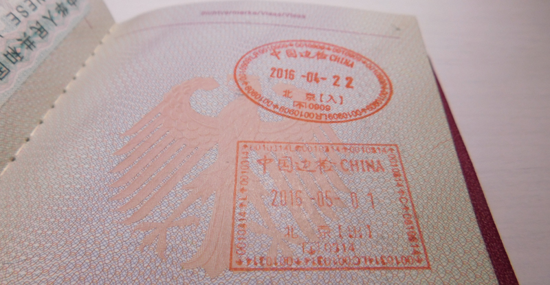Reisepass China