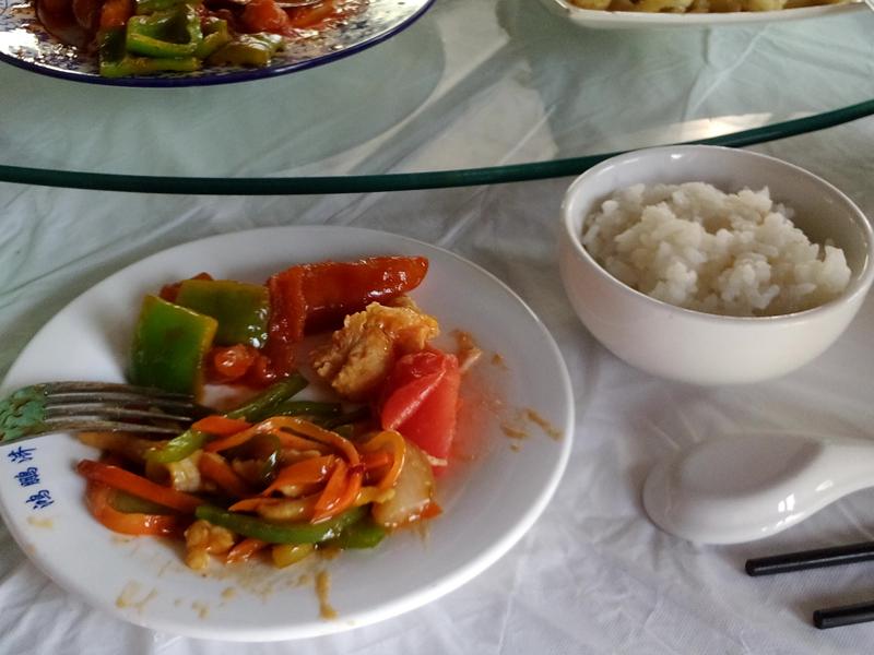 Allerlei gebratenes Gemüse mit Reis