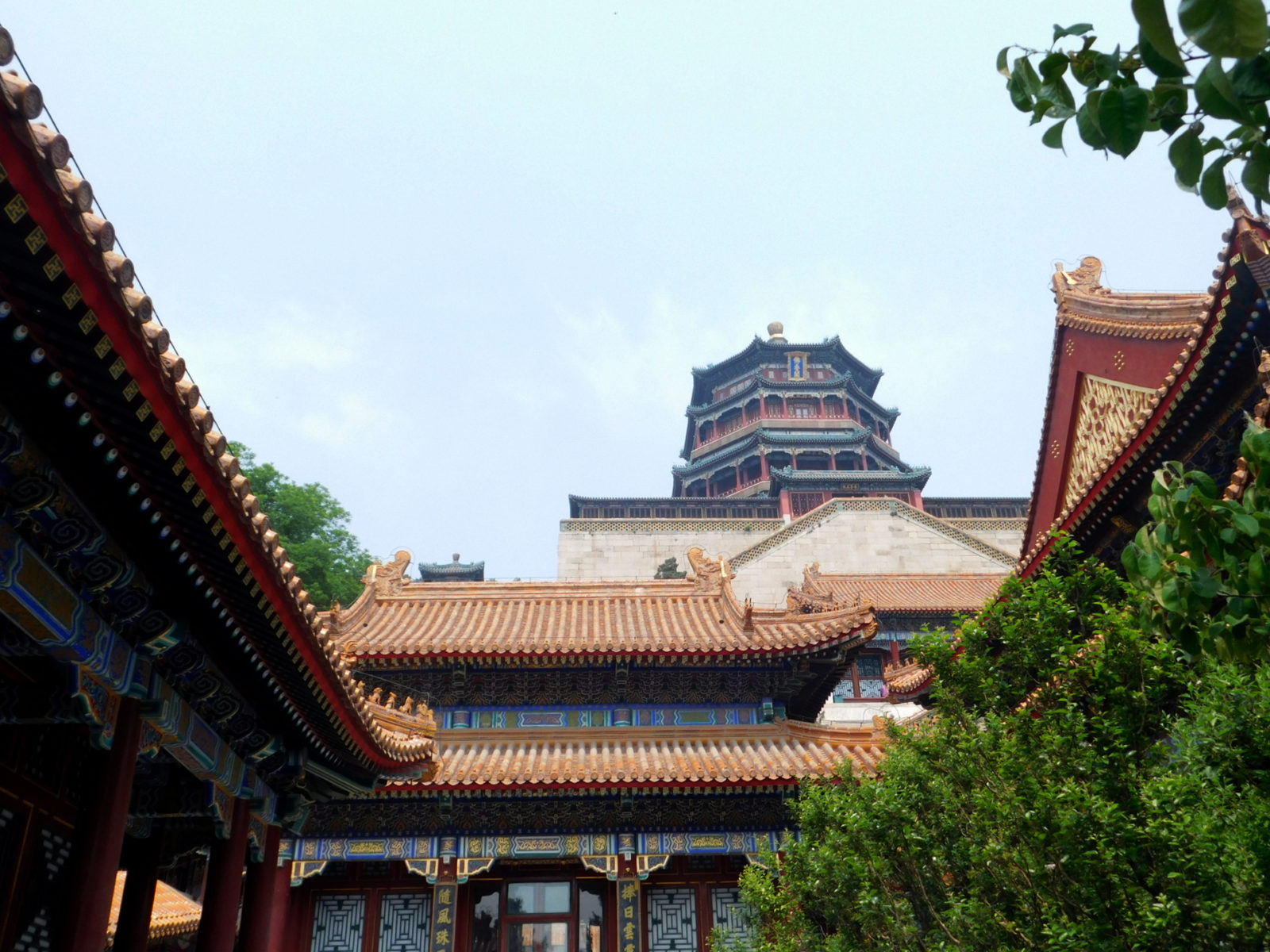 Sightseeing Neuer Sommerpalast Peking Pagode
