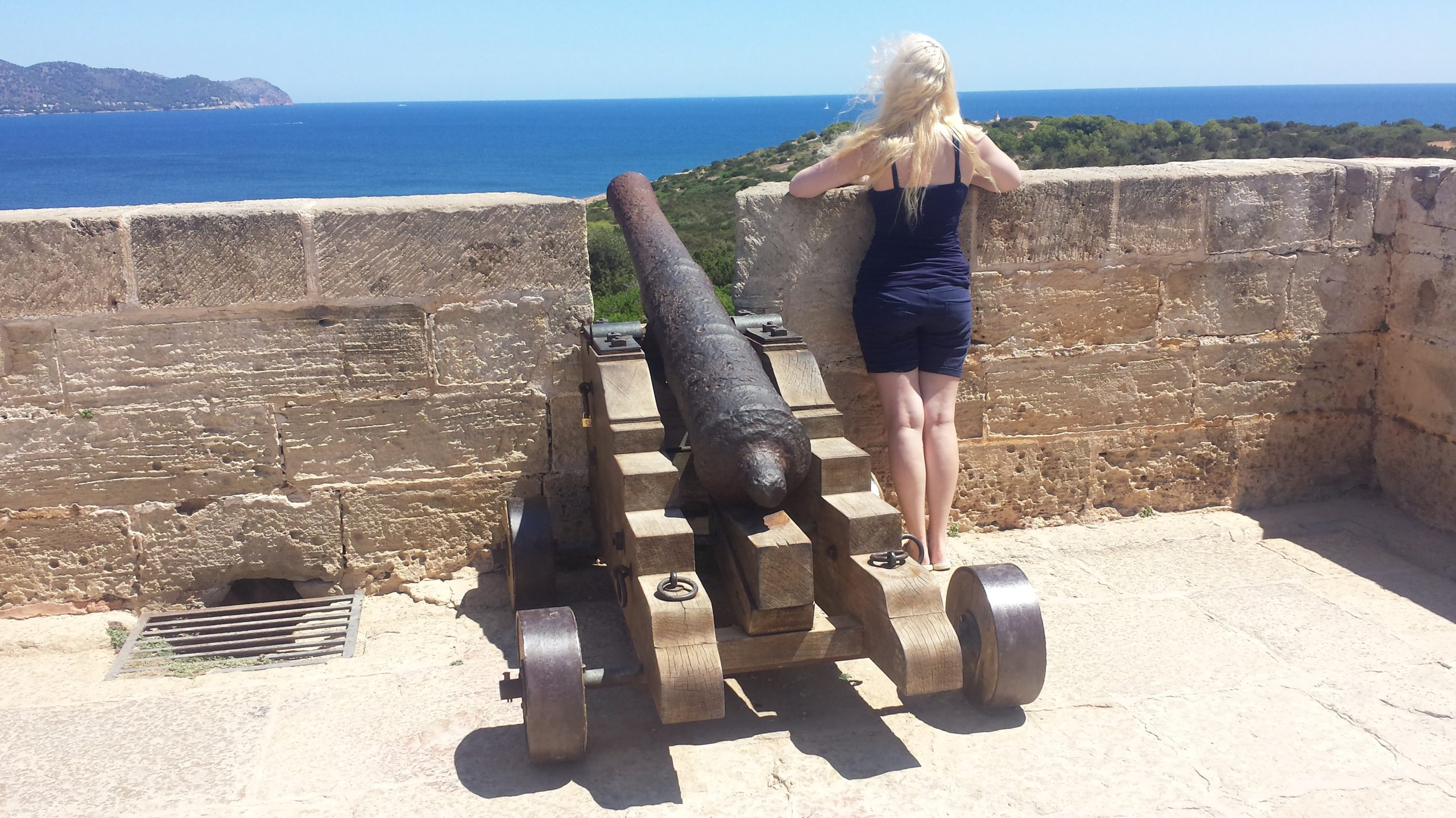Queen of Mallorca, Queen of Cala Millor, Queen of the Andalusiens and the Catalans, and the First Men, Lord of the Five Baleares, Protector of the Realm, Khaleesi of the Great Blue Sea, the (S)Unburnt, Mother of Dragons.  Khaleesi has a cannon :D