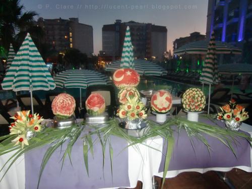 Geschnitzte Melonen