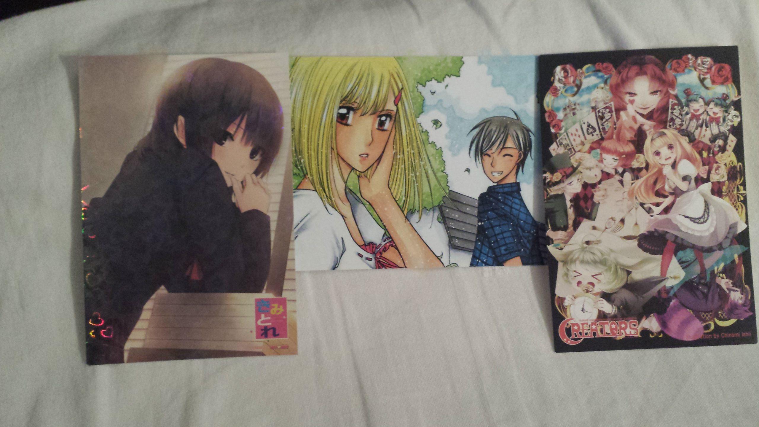 Die Postkarten habe ich beim Losziehen gewonnen~