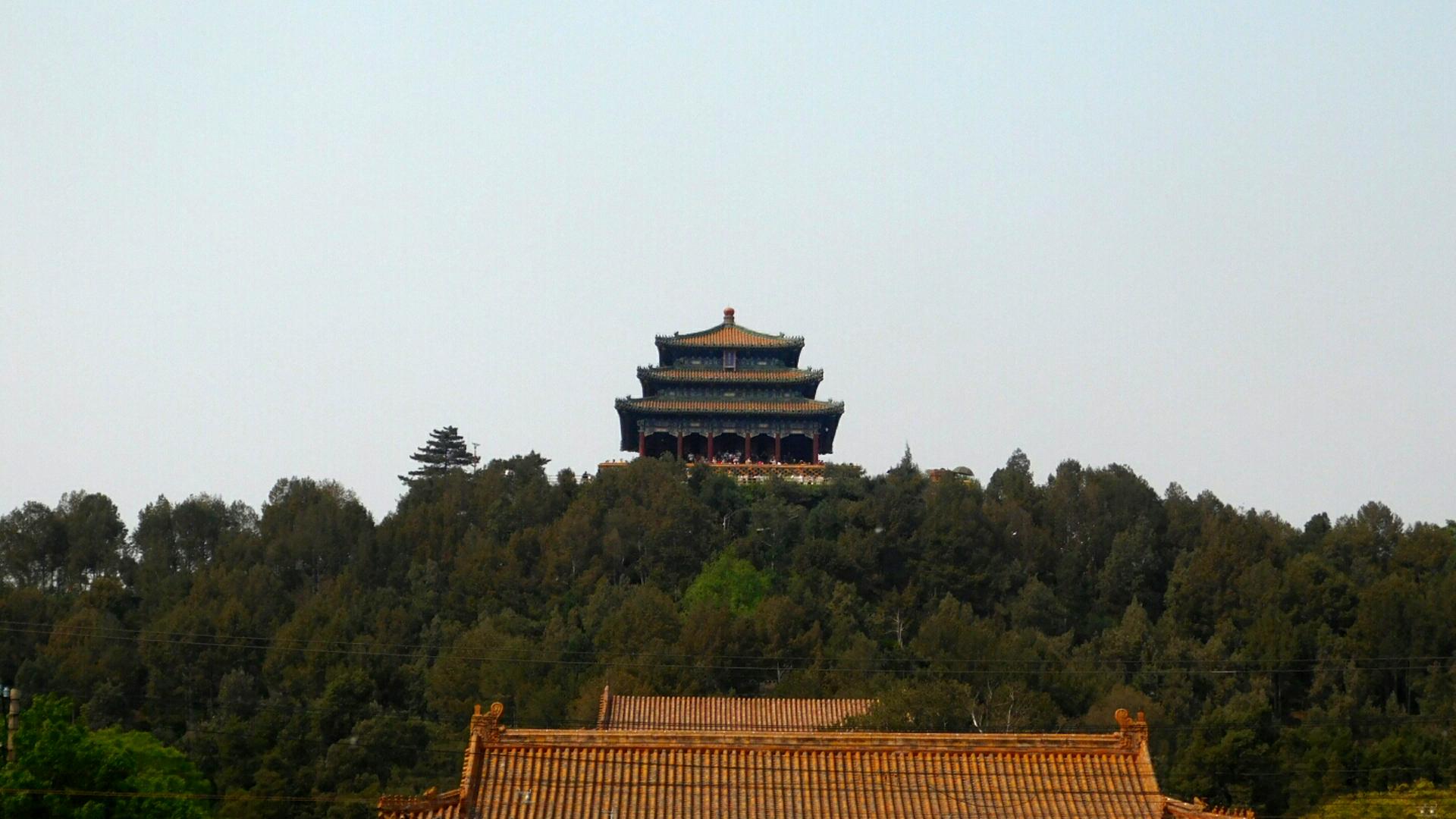 Den Pavillion kann man von der Verbotenen Stadt aus sehen.