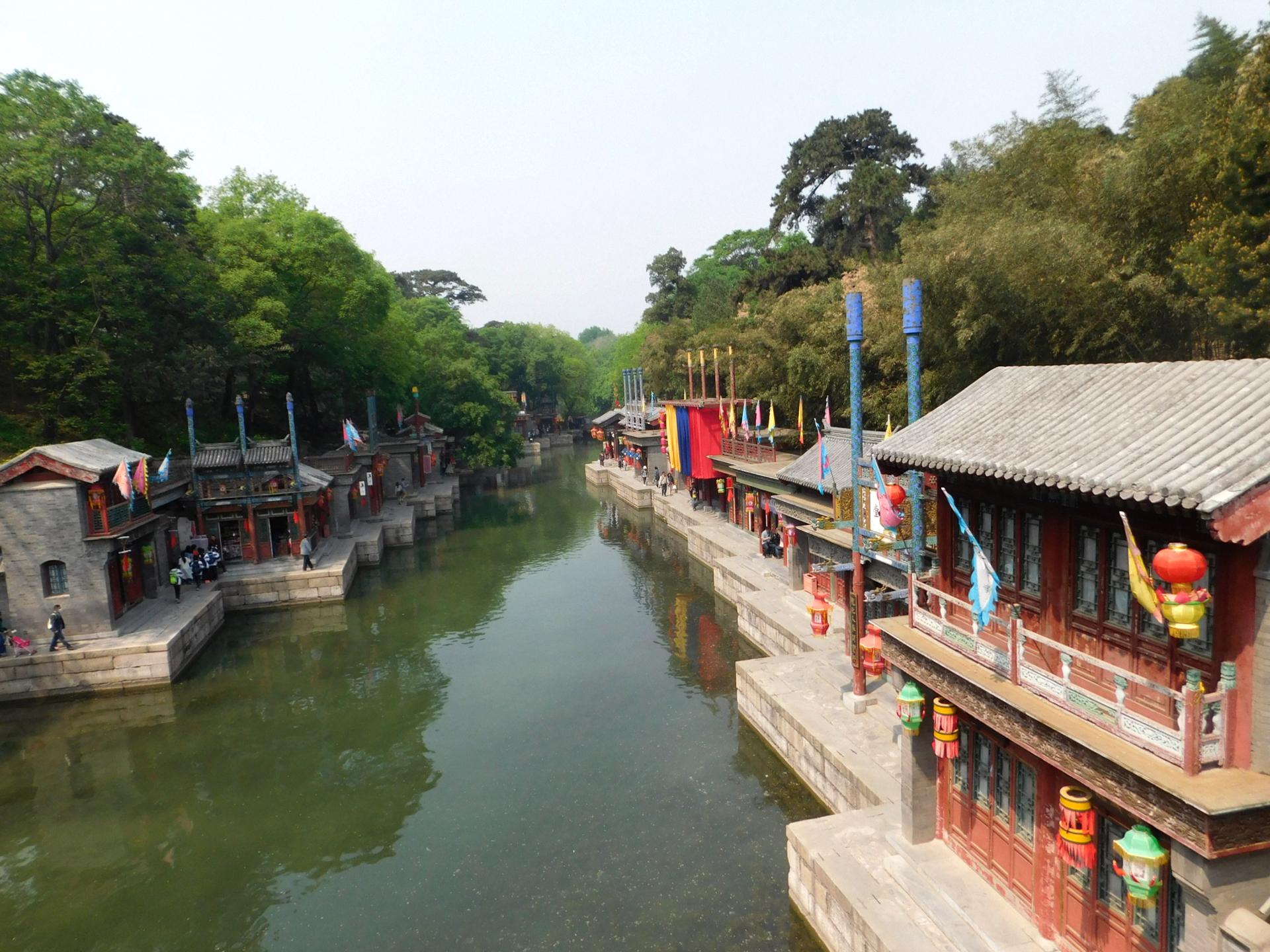 Die kleine Suzhou Street direkt vor dem Yiheyuan